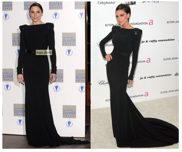 Melanie C steals Victoria Beckham's dress! 22 03 2010