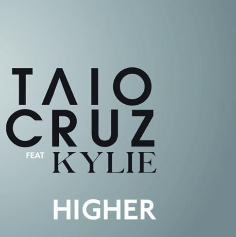 "Official artwork of Taio Cruz's single ""Higher"" featuring Kylie Minogue"
