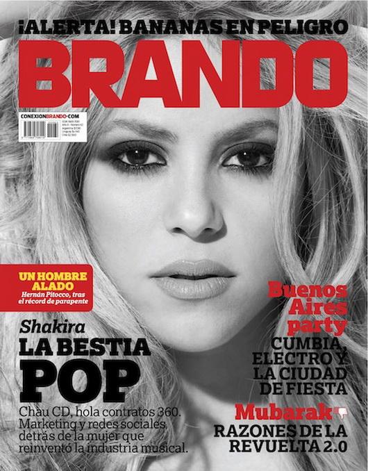 magazine covers 2011. Shakira covers Brando magazine