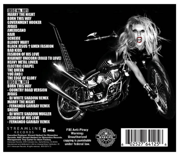 lady gaga born this way album tracklist. Lady Gaga#39;s Born This Way.