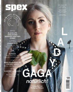 Lady GaGa Covers Spex MagazineLady GaGa tones down her usual antics on the cover of the July-August issue of Spex magazine. Pick up your copy of the edition when it hits stores next month