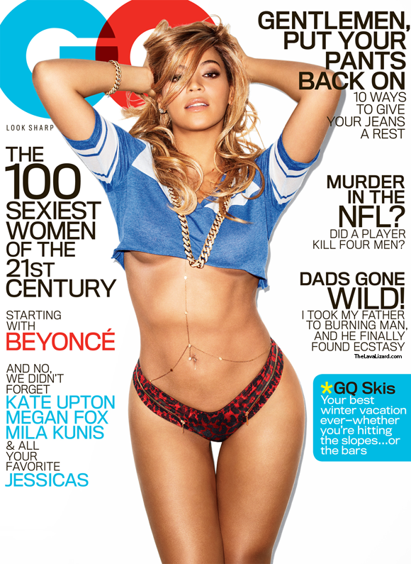 beyonce boobs breats naked nude gq spread sex sexy