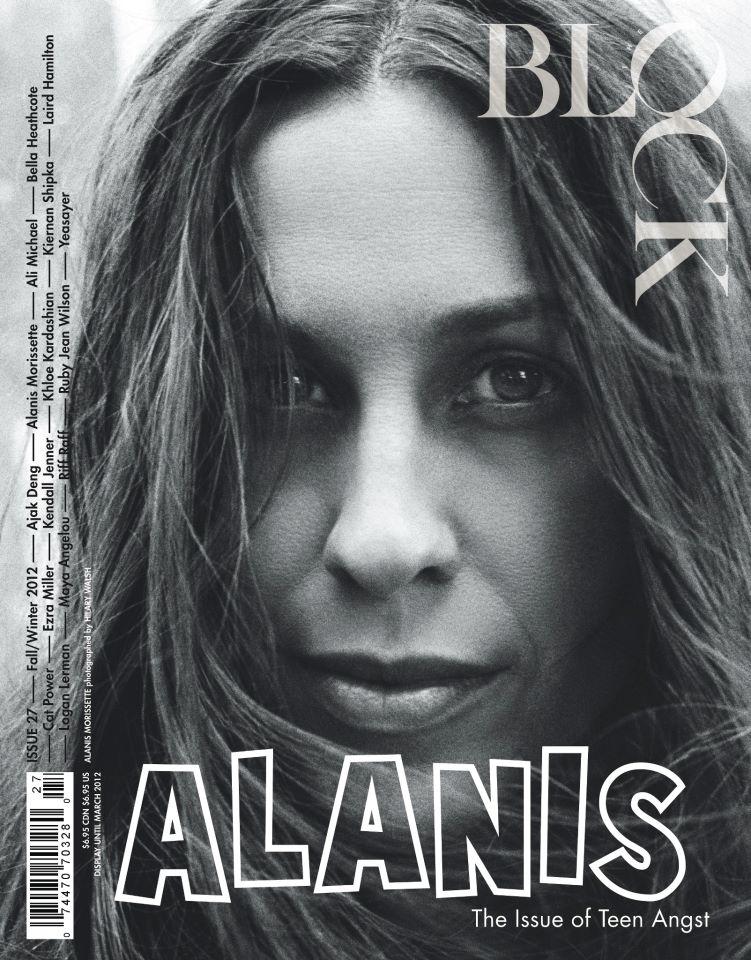 block magazine alanis morissette cover