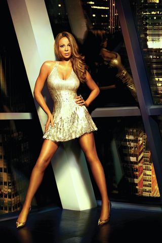 Mariah-Carey-Posing-in-Gloden-Dress-iPhone-Wallpaper-Download