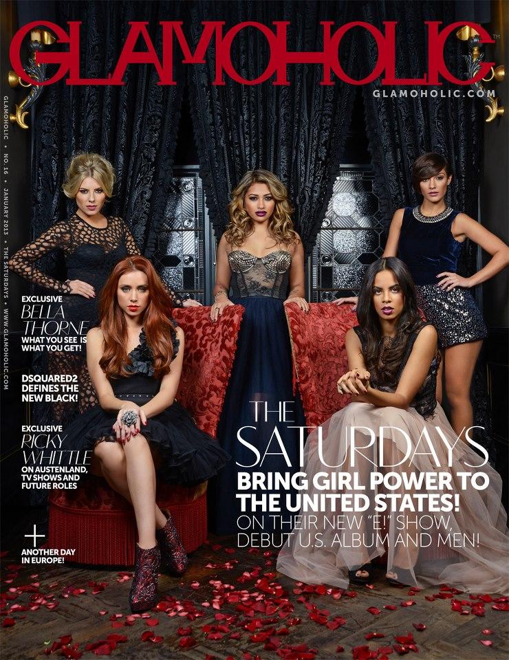 The Saturdays cover Glamaholic magazine