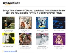 amazon cloud player new free mp3 cd