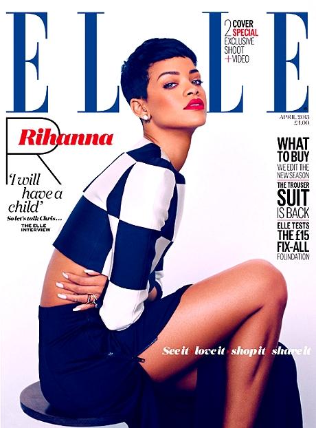rihanna sexy legs elle magazine